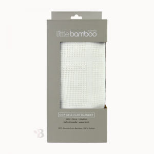 Bamboo Cellular Cot Blanket