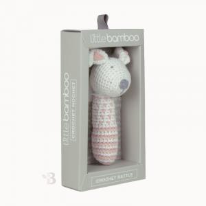 Bamboo Crochet Rattle