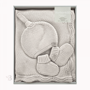 bamboo textured knit gift set