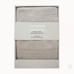 Bamboo Textured Knit Blanket - Natural