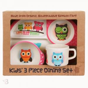 Bamboo Kids Dinnerware - Owls