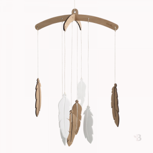 Bamboo Mobile - Boho Feathers
