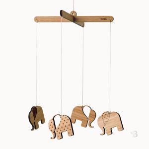 Bamboo Mobile - Elephant Tribe