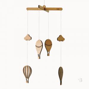 Bamboo Mobile - Hot Air Balloons