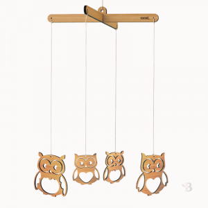 Bamboo Mobile - Wise Owls