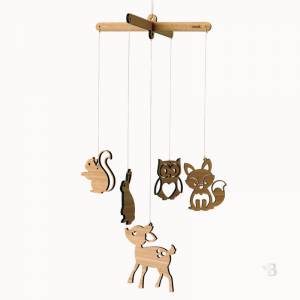 Bamboo Mobile - Woodland Friends