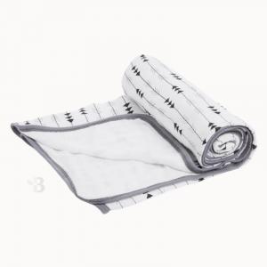 Bamboo Muslin Stroller Blanket - Arrow
