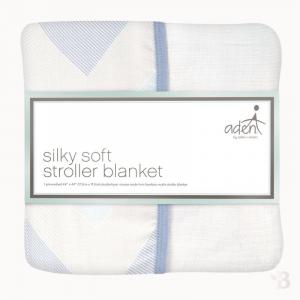 Bamboo Muslin Stroller Blanket - Ziggy Blue