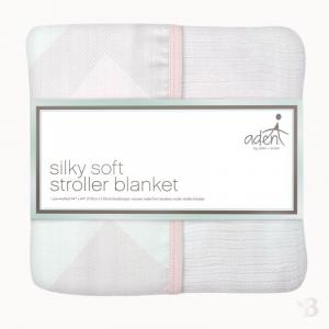 Bamboo Muslin Stroller Blanket - Ziggy Pink