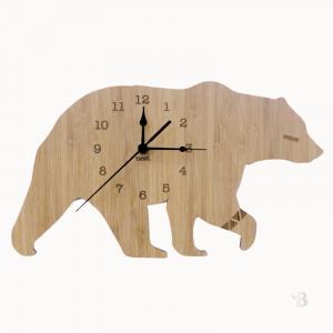 Bamboo Wall Clock - Bear