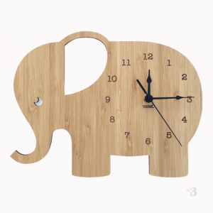 Bamboo Wall Clock - Elephant