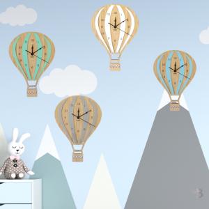 Bamboo Wall Clock - Hot Air Balloon