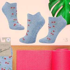 Bamboo Yoga Socks - Cherr