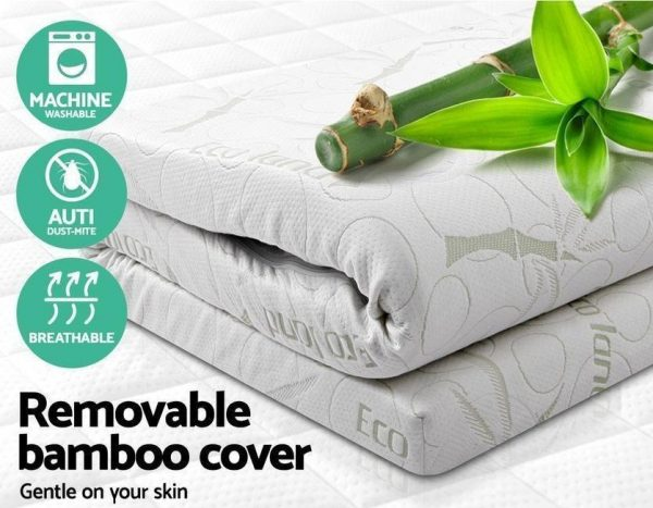 Memory Foam Mattress Topper Bamboo Cover