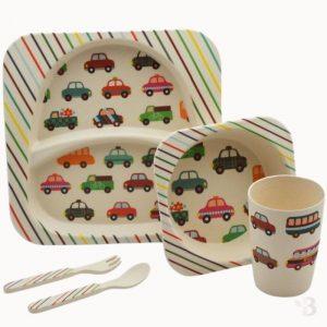 Bamboo Kids Dinnerware - Cars